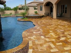 Gold travertine pavers Reasons to Use Travertine Tile and Pavers