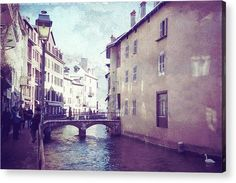 Romantic Walk in Annecy 1 Acrylic Print by Jenny Rainbow. All acrylic prints are professionally printed, packaged, and shipped within 3 - 4 business days and delivered ready-to-hang on your wall. Choose from multiple sizes and mounting options. Texture Words, Thing 1, Multiple Exposure, Medieval Town, 14th Century, Clear Acrylic, Framed Prints, Art Prints, Fine Art Photography