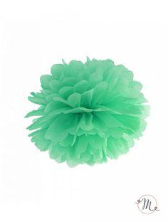 Pom pom di carta tiffany. Ideali per allestire e decorare feste di ogni tipo. Diametro 25 cm. In #promozione #matrimonio #weddingday #ricevimento #wedding #lanterne #decorazioni #sconti #offerta #pompom