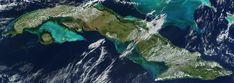Satellite image of Cuba in November 2001 - Cuba – Wikipédia, a enciclopédia livre > Imagem de satélite do território cubano em 2001.