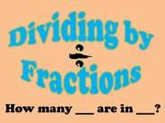 Fraction Division- Powerpoint with worksheet.  Great visual examples.