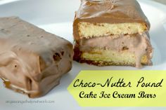 Choco-Nutter Pound Cake Ice Cream Bars made with Sara Lee Pound Cake from @Angie Harris.