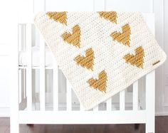 Lil' Fox Heart Blankie Heart Blanket Polka dot by lilfoxshoppe