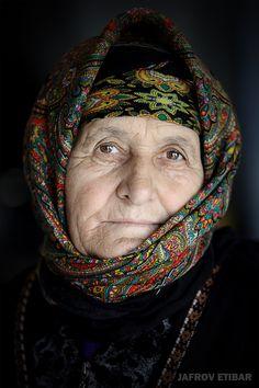 Old woman from Ağsu  Azerbaijan