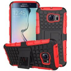 Heavy Duty Impact Hybrid Armor Cover Hard Plastic Case for Samsung Galaxy S6 Edge With Kickstand Phone Bags & Cases IDOOLS