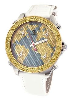 Jacob-Co-White-Band-5-Time-Zone-World-Map-Dial-650Ct-Diamond-Watch-JC-M47BY-0