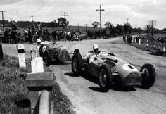 Doug Whiteford, Lago Talbot leads Stan Jones, Maybach. Woodside, South Australia, 1951...