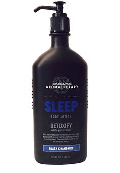 (Scented Bath & Body Prestige) Bath and Body Works Aromatherapy Black Chamomile Body Lotion. This stuff is the best! I always use before bed and it puts me right in a deep sleep along with the pillow mist! #aromalove