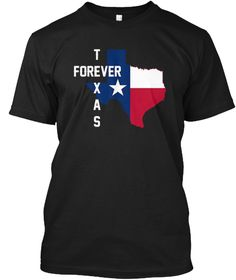 Texas Forever Tee Shirt Black T-Shirt Front