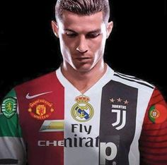 All ronaldo his clubs during the year 🖤🇵🇹🔥 Cristiano Ronaldo 7, Cristiano Ronaldo Wallpapers, Cr7 Messi, Messi Vs Ronaldo, Football Squads, Ronaldo Football, Cr7 Wallpapers, Portugal National Football Team, Cr7 Junior