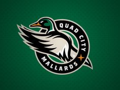 New, updated logo for the Central Hockey League franchise, the Quad City Mallards.... View all the marks in the new identity here: http://studio1344.com/2011/09/quad-city-mallards/