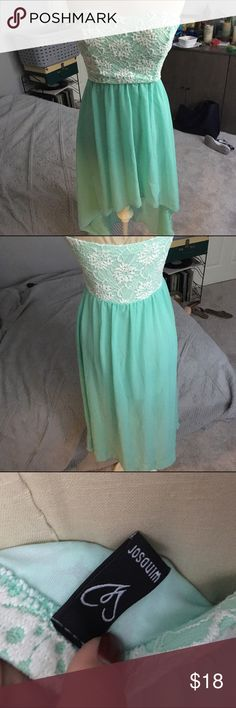 Gorgeous Teal High to Low Dress gorgeous! make me offers Dresses High Low