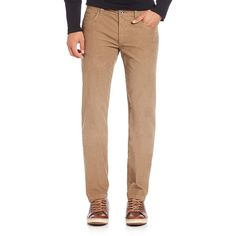 Saks Fifth Avenue Collection Luca Five-Pocket Corduroy Pants ($130) ❤ liked on Polyvore featuring men's fashion, men's clothing, men's pants, men's casual pants, apparel & accessories, mens corduroy pants, mens zipper pants, mens zip off pants, men's 5 pocket pants and men's five pocket pants