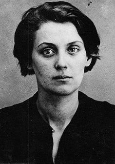 Feb 1937 : Prison photo of 27 year old Tamara Litsinskaya after her arrest for being a follower of Trotskyism, Moscow, USSR.   Tamara was executed on August 25th 1937  Between 1936 to 1938, many people were arrested for alleged crimes in USSR, then executed and buried in mass graves in secret places known as the Great Purge. Many Liberal Socialists, Marxists, Anarchists, Army commanders and Trotskyist were executed. It was the most brutal era of Stalinism in USSR