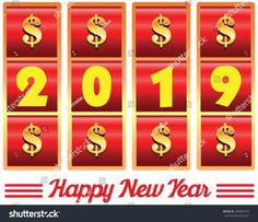 2017 year number illustration of casino machine slot jackpot with dollar signs. Casino Theme Parties, Casino Party, Party Themes, Casino Machines, Las Vegas, Slot Machine Cake, Design Tattoo, Food Trucks Near Me, Good Day Song