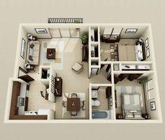 plan de maison 80m2 3d