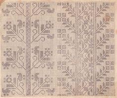 Cross Stitch Borders, Cross Stitch Art, Cross Stitching, Folk Embroidery, Cross Stitch Embroidery, Embroidery Designs, Vintage Cross Stitches, Bargello, Friendship Bracelet Patterns