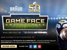Braun Game Face Sweepstakes