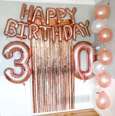 Enjoy your party with this 30th birthday decorations from us... Diy 30th Birthday Decorations, 30th Birthday Balloons, 30th Birthday Cake Topper, Diy Birthday Banner, Happy 30th Birthday, Birthday Backdrop, 30th Birthday Parties, Birthday Cheers, Birthday Ideas For Her