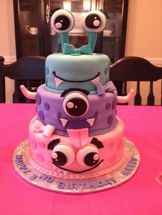 Girly monster cake