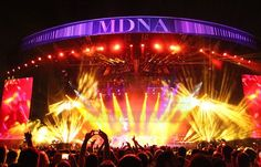MDNA Tour :: stages :: Madona.