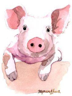 Slikovni rezultat za watercolor piggie