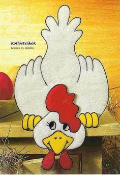 Nice chicken pattern to use for quiet book. Applique Templates, Applique Patterns, Applique Quilts, Applique Designs, Quilt Patterns, Chicken Quilt, Chicken Bird, Chicken Crafts, Crazy Quilting