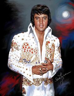 "( 2016 IN MEMORY OF ★ † ELVIS  PRESLEY "" ♪♫♪♪ Rock & roll / pop / rockabilly / country / blues / gospel / rhythm & blues "" by Sara Lynn "" ) ★ † ♪♫♪♪ Elvis Aaron Presley - Tuesday, January 08, 1935 - 5' 11¾"" - Tupelo, Mississippi, USA. Died; Tuesday, August 16, 1977 (aged of 42) Resting place Graceland, Memphis, Tennessee, USA. Education. L.C. Humes High School. Occupation: ♫ Singer, actor. Home town Memphis, Tennessee, USA. Cause of death: (cardiac arrhythmia)."
