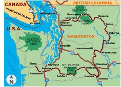 An Adventure Cycling bicycle route with two loops through Washington, highlighting the state's diversity, from ocean views to mountains landscapes. Mtb Trails, Mountain Bike Trails, Canada North, Washington Park, Rainier National Park, North Vancouver, British Columbia, Adventure Travel, Cycling