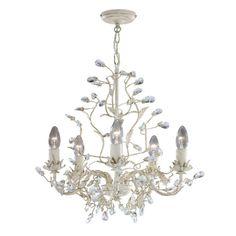 2495-5CR Almandite - 5-ram.luster krémovo-zlatý + krištáľ