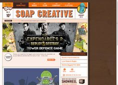 """Soap Creative. Los Angeles Digital Agency. """"WHO ARE THE SOAPERHEROES?  If a game developer and a digital agency had a love child, it would not be Soap Creative… unless that child was endowed with super powers and had a robot sidekick. Founded in 2002, we are artists, designers, thinkers, creators, tinkerers, technologists, gamers, strategists, social ninjas..."""""""