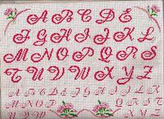 Risultati immagini per pinterest punto croce alfabeti
