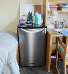 Danby Mini Fridge in student dorm room.