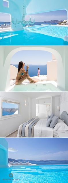 5 Incredible Luxury Boutique Hotels in Greece - Urlaub - Travel & Restaurants Vacation Places, Vacation Destinations, Dream Vacations, Places To Travel, Hotels And Resorts, Luxury Hotels, Hilton Hotels, Oia Greece Hotels, Santorini Greece