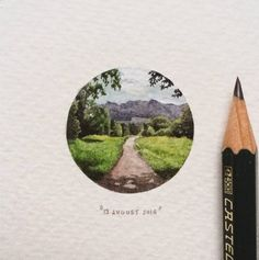 DESIGN FETISH: Postcards for Ants: A 365-Day Miniature Painting Project by Lorraine Loots