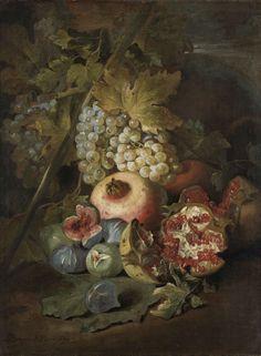 Stilleven met vruchten, Abraham Brueghel, 1670