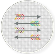 FREE for June 22nd 2014 Only - Colorful Arrows Cross Stitch Pattern
