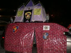 Trunk or Treat 2011- our van was based on Harry Potter...platform 9 3/4 on the side, Hogwarts castle on top, the great hall inside with sorting hat, and sweet shop out of the back.