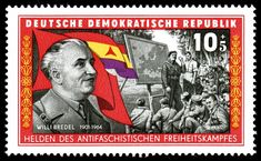 Stamps of Germany (DDR) 1966, MiNr 1197 - Willi Bredel – Wikipedia German Stamps, Germany, Baseball Cards, World, Police, Spanish, Rostock, Deutsch, Spanish Language