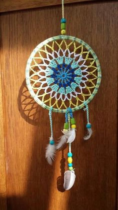 Mandala patron We are want to say thanks if you like to sh Crochet Home, Diy Crochet, Crochet Doilies, Doily Dream Catchers, Dream Catcher Craft, Crochet Mandala Pattern, Crochet Patterns, Dreamcatchers, Crochet Mandela
