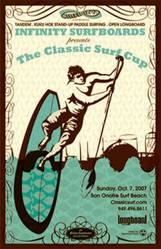 classic surf cup poster