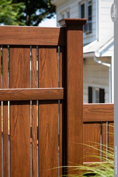 wood grain pvc vinyl fence rosewood illusions