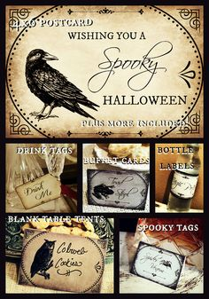 Printable vintage Halloween party package