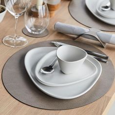 """LIND DNA on Instagram: """"Crushing on Warm Grey for the Spring season 🌱  #linddna #gogreen #tablesettinginspo #sustainability #glassmats #coasters #recycledleather…"""" Recycled Leather, Warm Grey, Go Green, Dna, Sustainability, Coasters, Tea Cups, Table Settings, Seasons"""