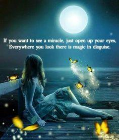 Magical moonlight with fairies Fantasy World, Fantasy Art, Moon Magic, Thomas Kinkade, Beautiful Moon, Moon Art, Stars And Moon, Full Moon, Night Skies
