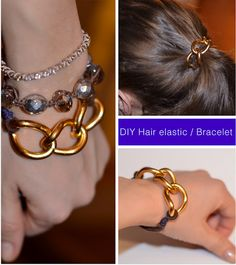 DIY Hair Elastic / Bracelet
