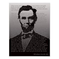 Amazon.com: ABRAHAM LINCOLN inspirational poster QUOTE ... |Abraham Lincoln Poster Lax
