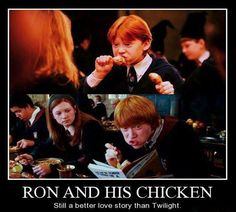 Ron's relationship with his pet rat who turns out to be Peter Pettigrew is a better love story than...that unspeakable word.