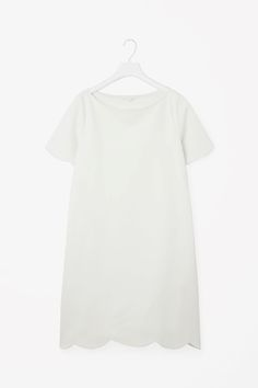 COS image 2 of Scalloped edge dress in White