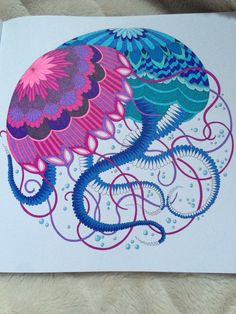 Jellyfish From Tropical Wonderland Millie Marotta S